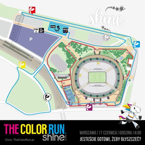 Color run materiały organizatorów