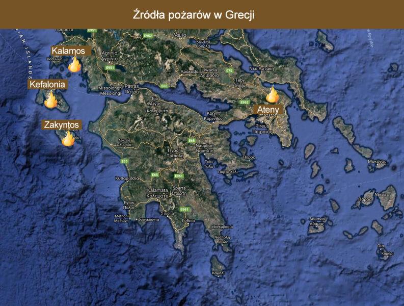 Od zeszłego weekendu w Grecji pojawiło się 55 pożarów