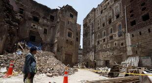 Zniszczenia w Jemenie po ulewach (PAP/EPA/YAHYA ARHAB)