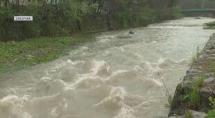 Podniesiony poziom wód w rzekach na południu Polski